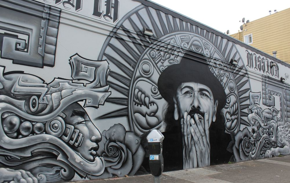 Fresque, quartier de Castro, San Francisco, CA, USA