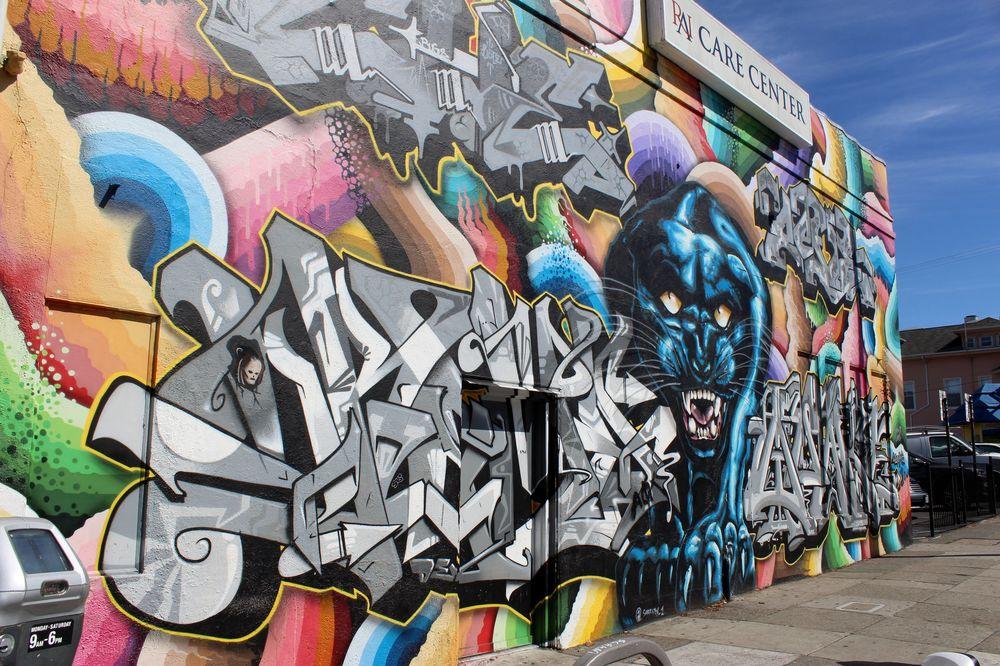 Fresque, Haight Ashbury, San Francisco, CA, USA