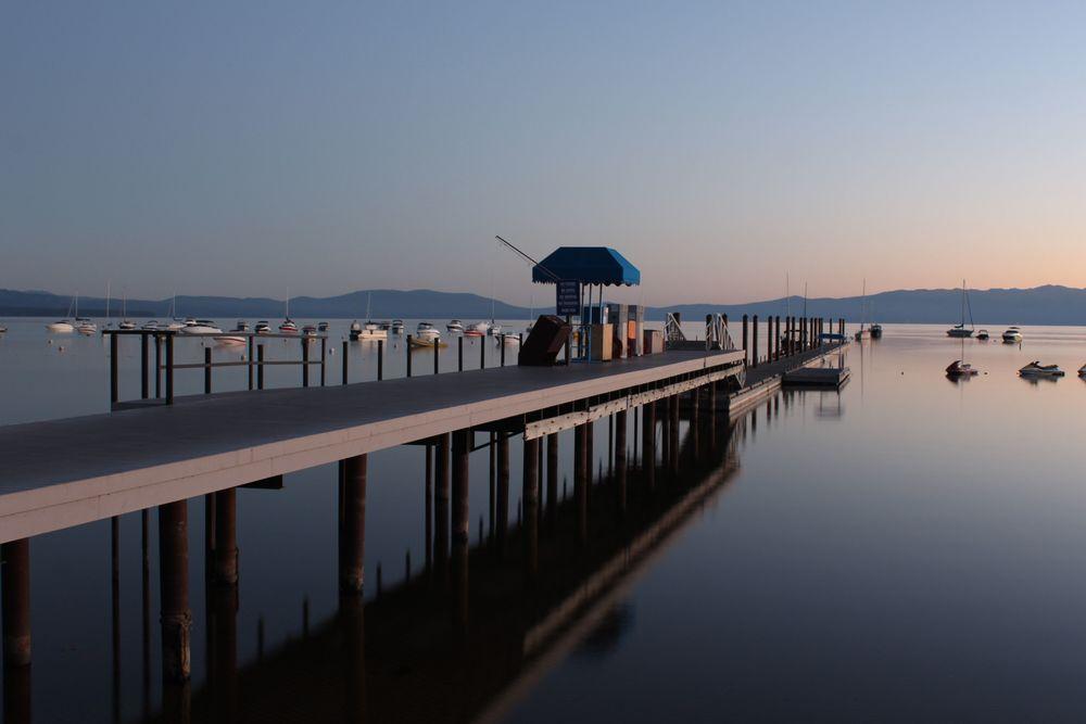 Lever de soleil, Lac Tahoe, CA, USA