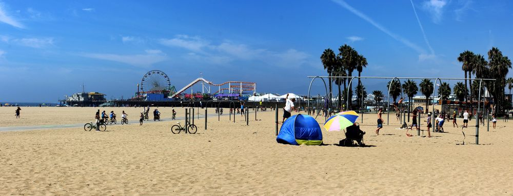 Le Pier de Santa Monica, CA, USA