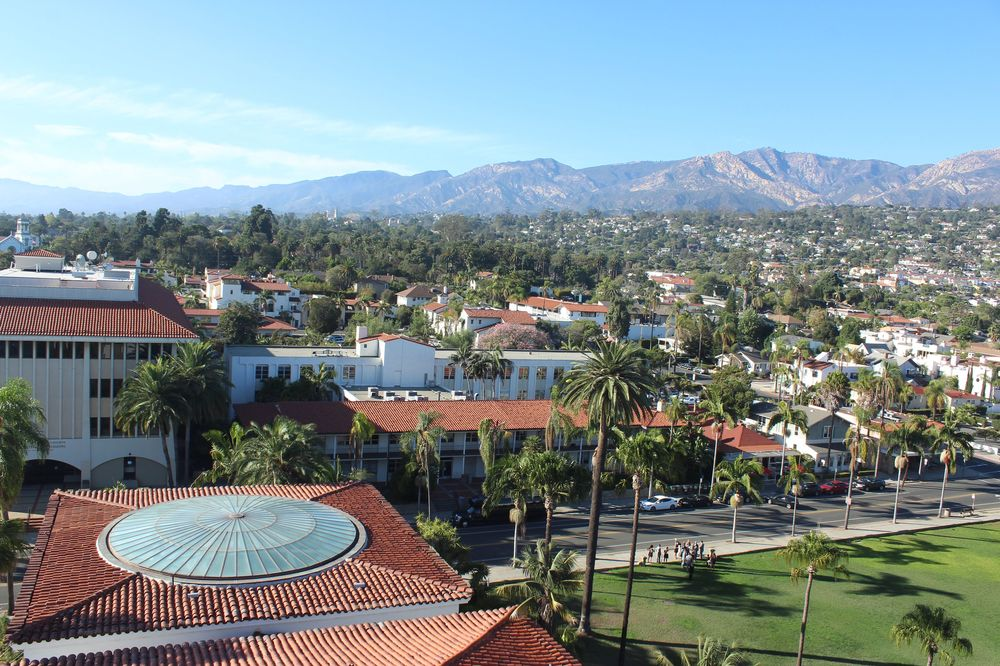 Vue du City Hall, Santa Barbara, CA, USA