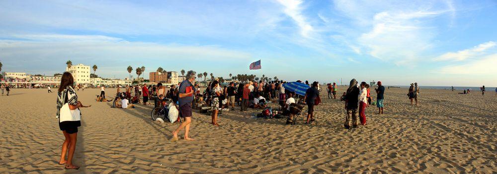 Jam sur la plage, Venice Beach, CA, USA
