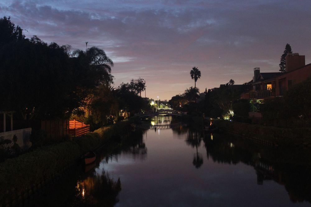 Le canal de Venice Beach, CA, USA