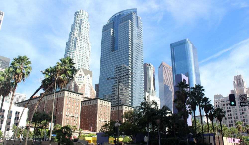 Financial district, Los Angeles, CA, USA