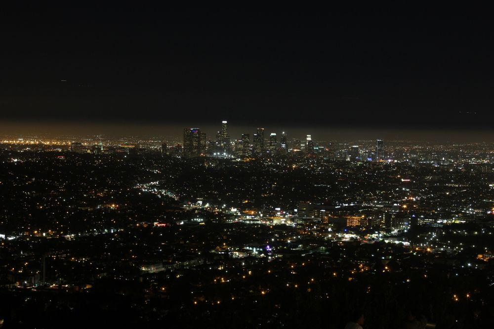 LA vue de Griffith Park, Los Angeles, CA, USA