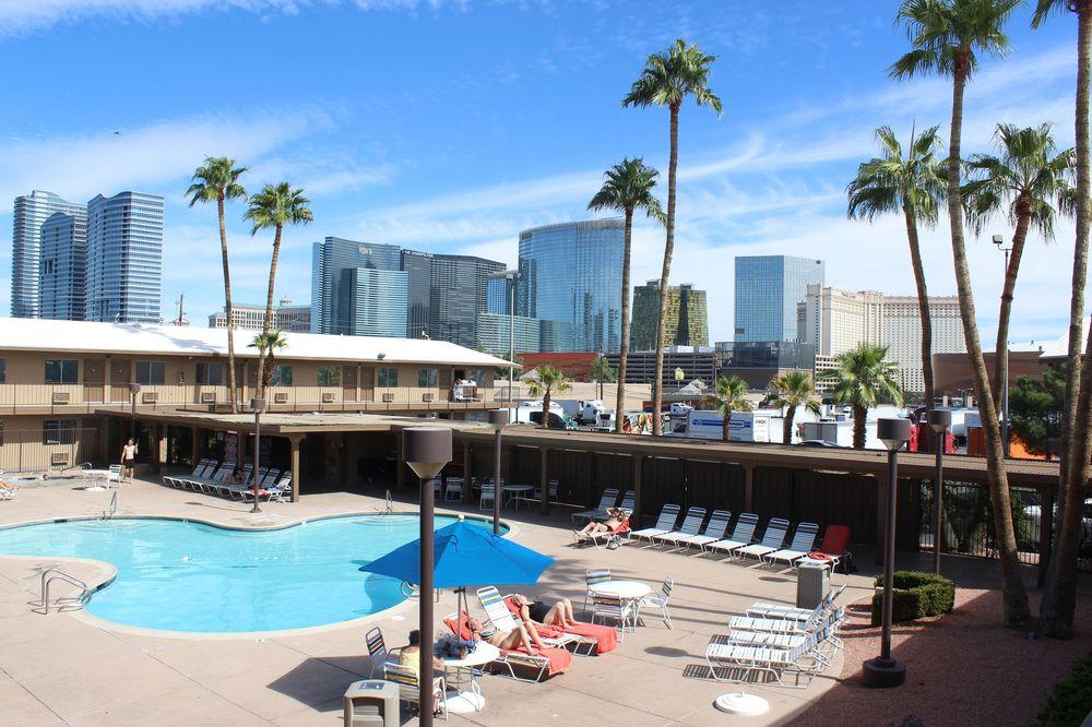 La vue de notre hôtel, Las Vegas, NV, USA