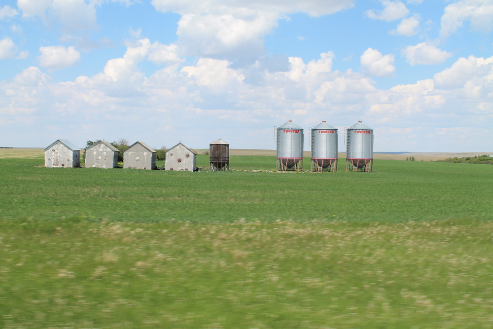 On the road, SK, Canada