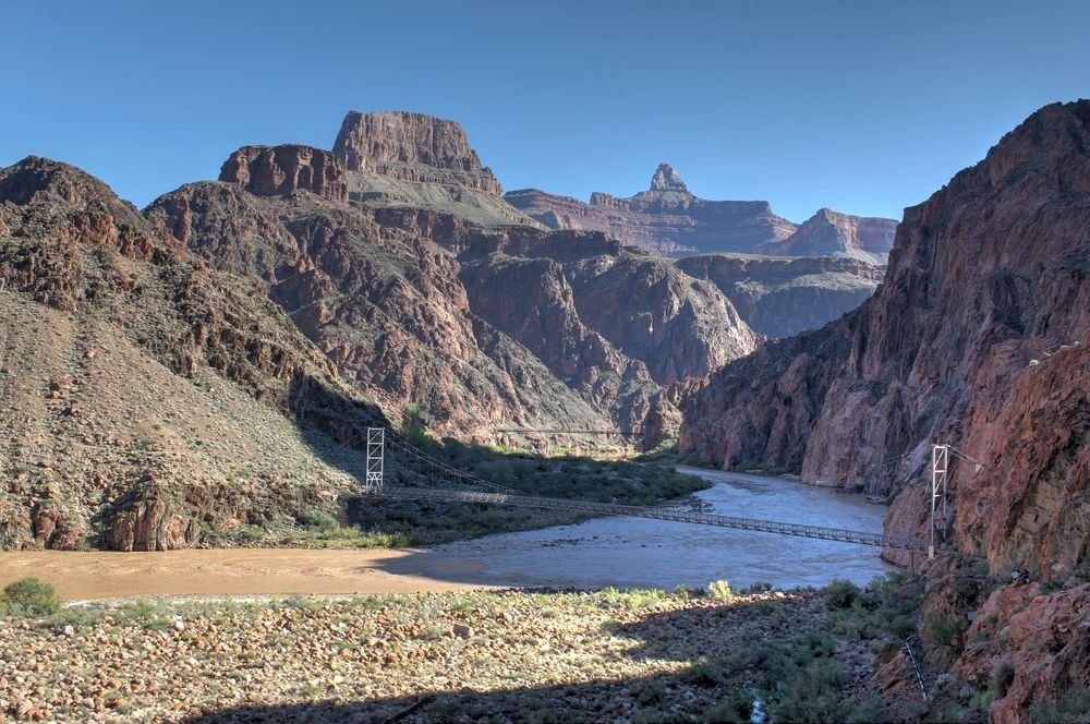 Colorado River, South Kaibab Trail, South Rim, Grand Canyon National Park, Arizona, USA