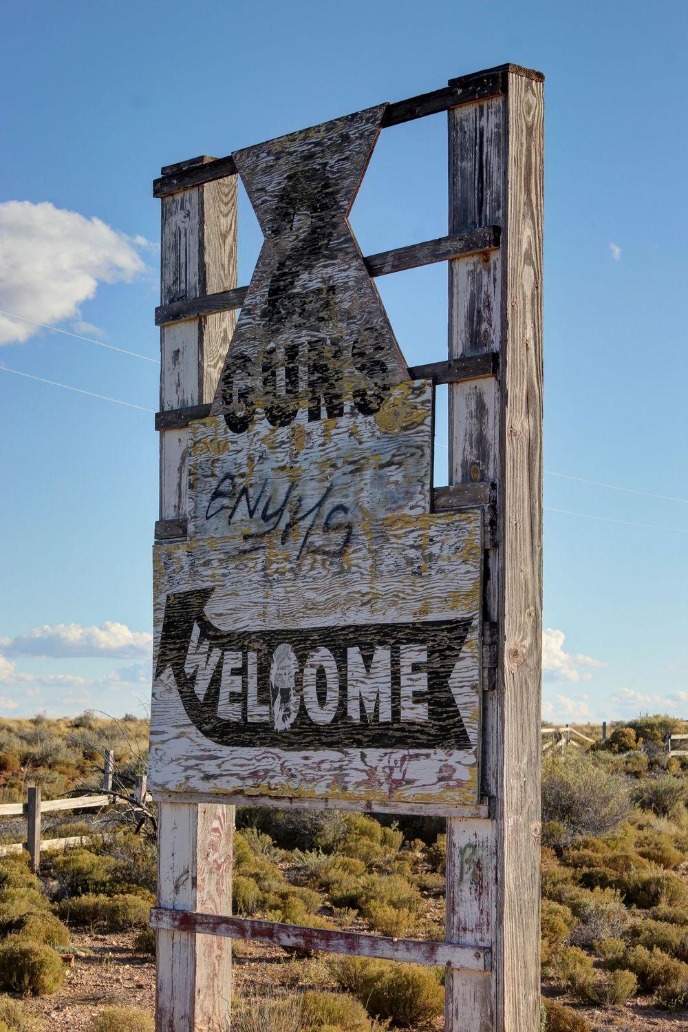 Ville fantôme de 2 Guns, Arizona, USA