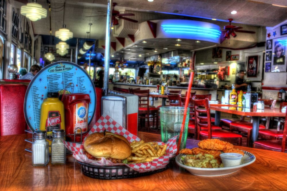 Galaxy Diner, Route 66, Flagstaff, Arizona, USA