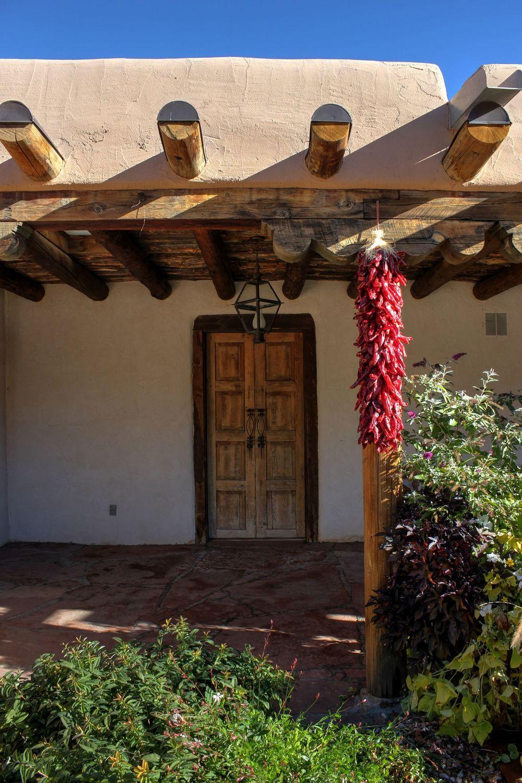 Maison sur Canyon Road, Santa Fe, Nouveau-Mexique, USA