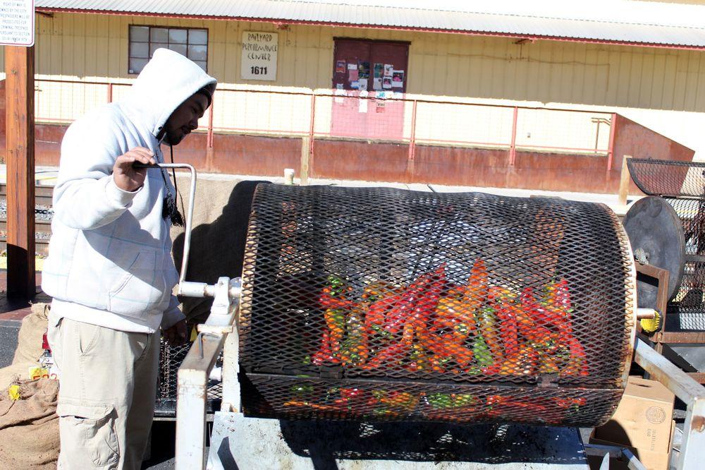 Piments grillés, Marché de Santa Fe, Nouveau-Mexique, USA