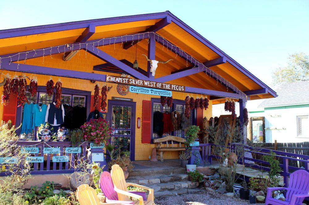 Maison du village de Madrid, Turquoise Trail, Nouveau-Mexique, USA