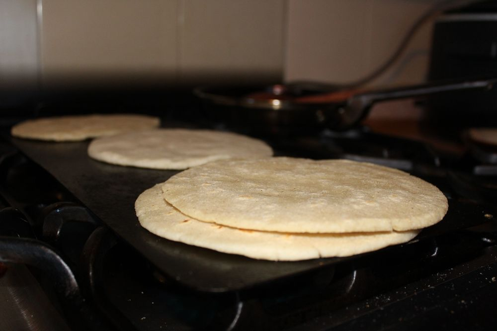 Tortillas de harina, Creel, Chihuahua, Mexique