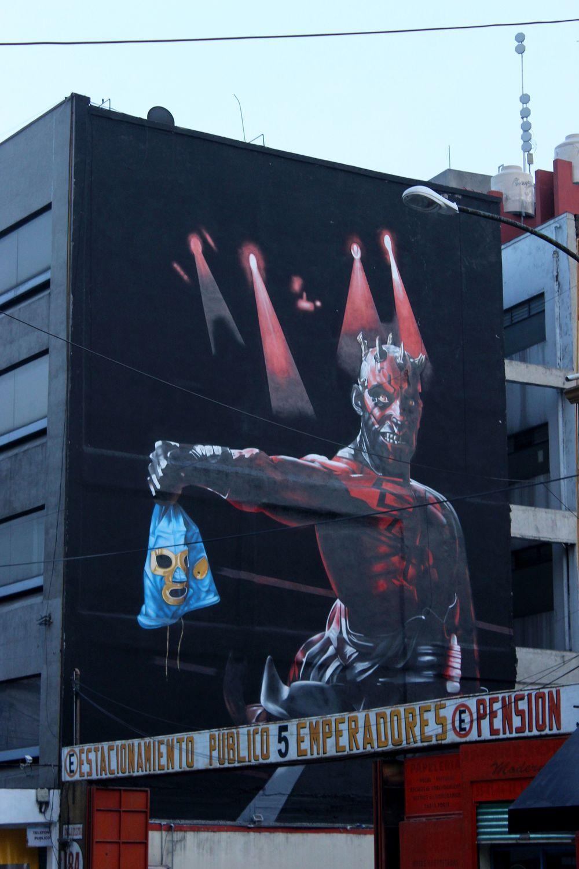Fresque murale, Arena de Mexico,  Cuauhtémoc, Mexico City, D.F, Mexique