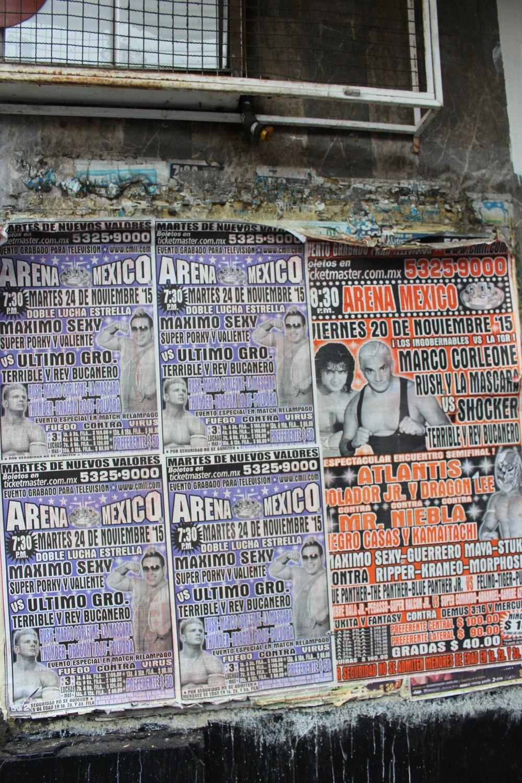 Affiche de Lucha Libre, Arena de Mexico,  Cuauhtémoc, Mexico City, D.F, Mexique