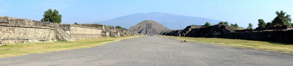 L'allée des morts, Site archéologique de Teotihuacan, Vallée de Mexico, Mexique