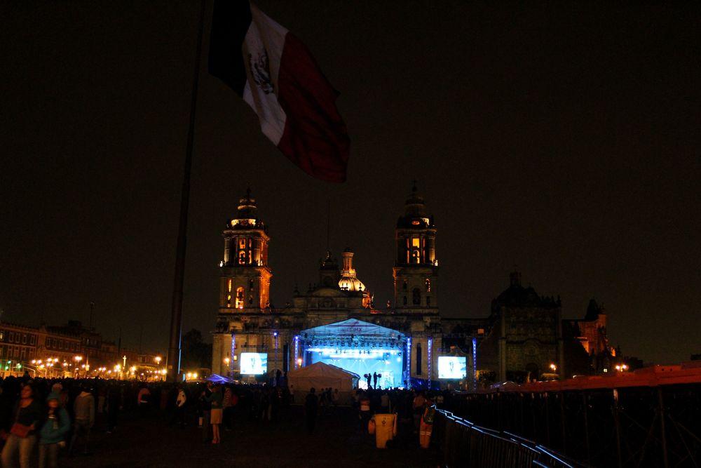 Concert d'opera sur le Zocalo, Mexico City, D.F, Mexique