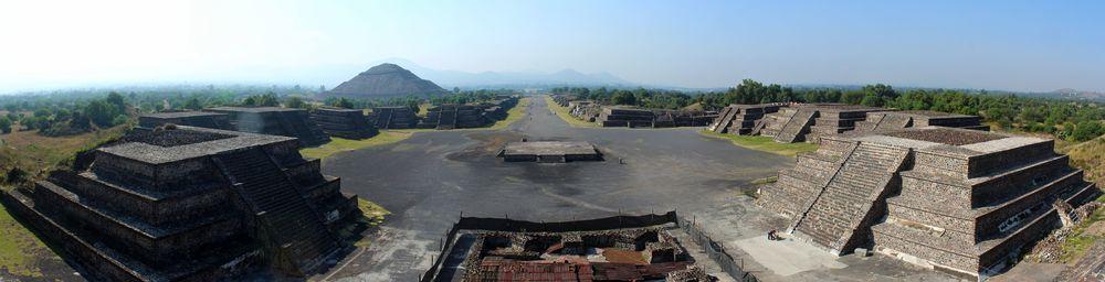 Site archéologique de  Teotihuacan, Vallée de  Mexico  ,  Mexique