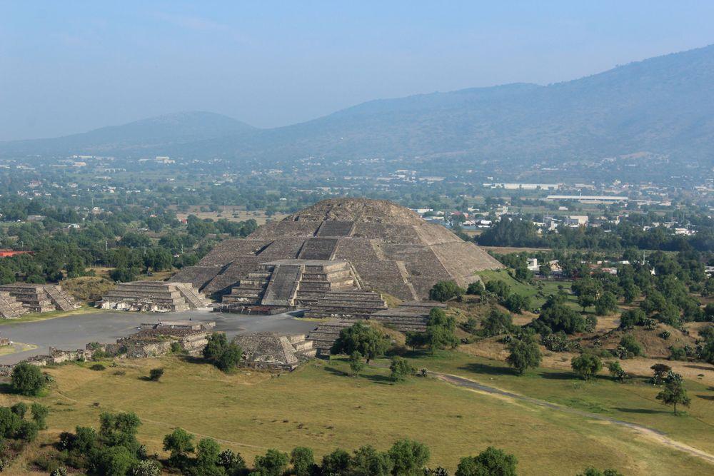 Temple du soleil, Site archéologique de Teotihuacan, Vallée de Mexico, Mexique