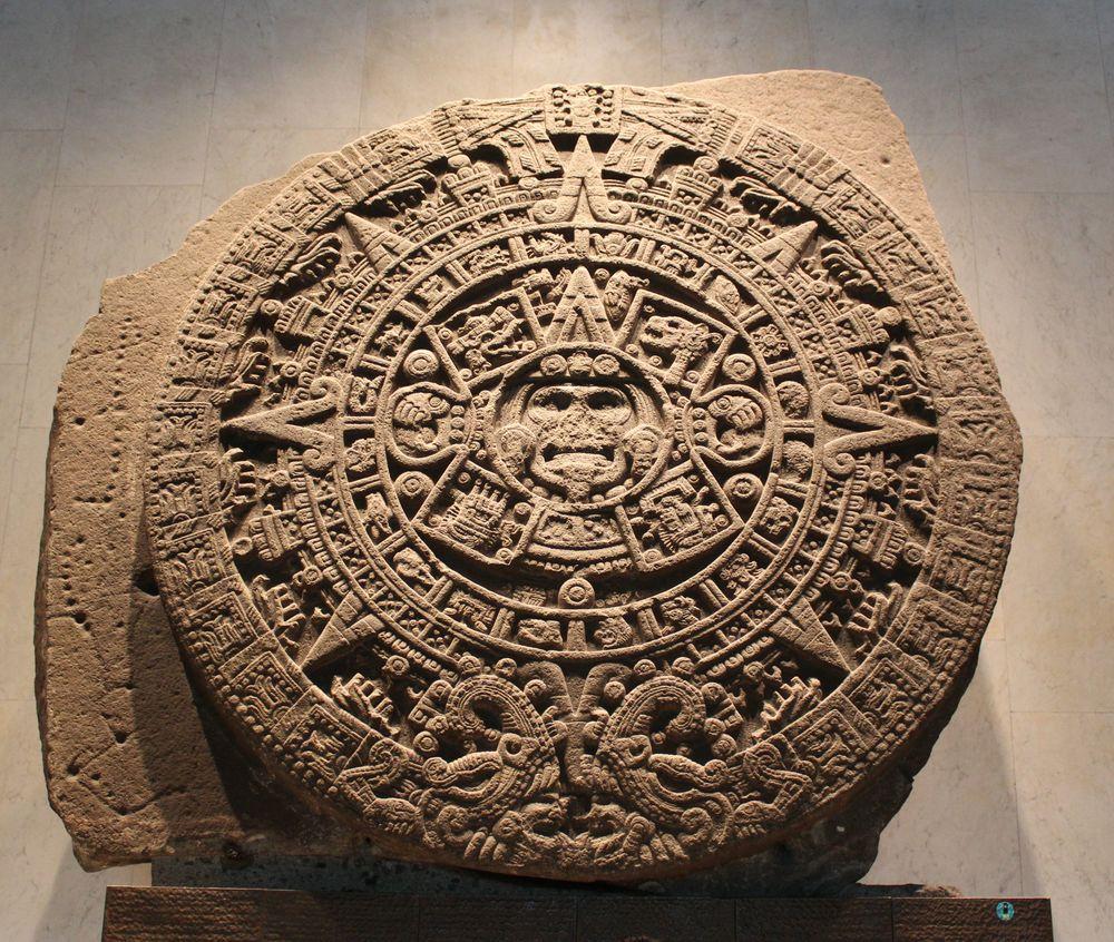 Calendrier Maya, musée d'anthropologie, Mexico City, D.F, Mexique
