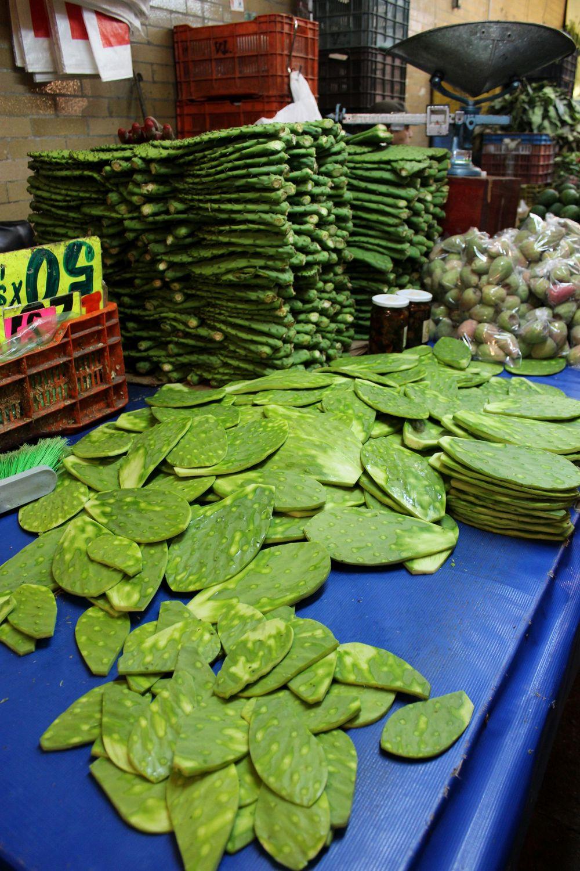 Nopales ou Cactus, Mercado de la merced, Mexico City, D.F, Mexique