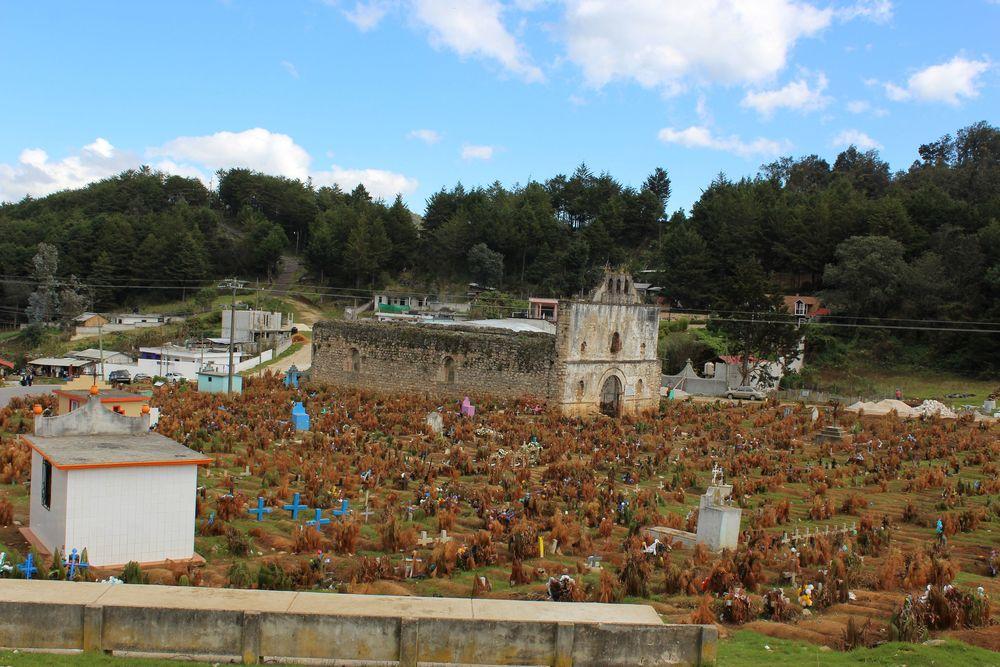 Cimetière de Chamula, Chiapas, Mexique