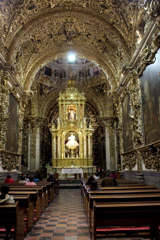 Les dorures de la Cathédrale de Puebla, Puebla, Mexique