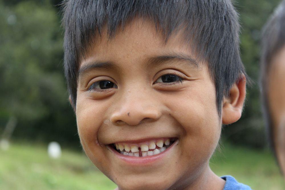 Jeunes Guatémaltèque à la frontière, Lagunas de Montebello, Chiapas, Mexique