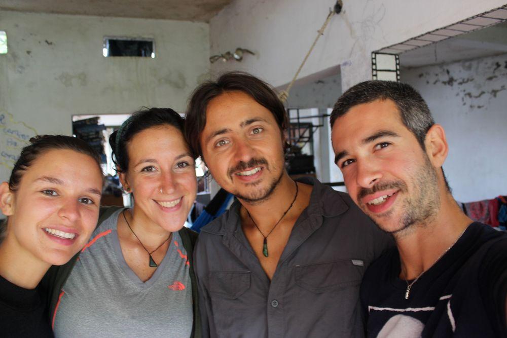 Franco et Sabrina chez notre hôte à Palenque, Chiapas, Mexique