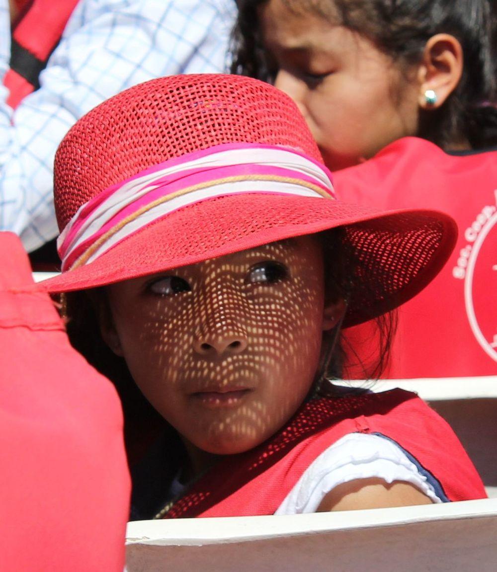 Jeune Méxicaine sur la lancha au Cañón del Sumidero, Chiapas, Mexique