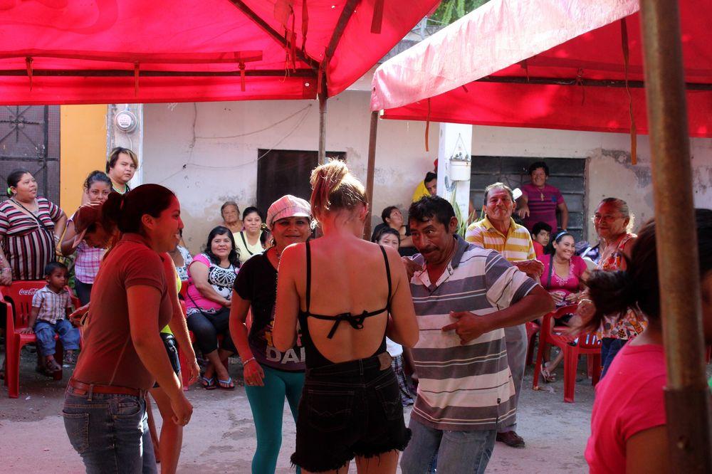 Tous en piste, Fête des pêcheurs, Celestùn, Yucatan, Mexico