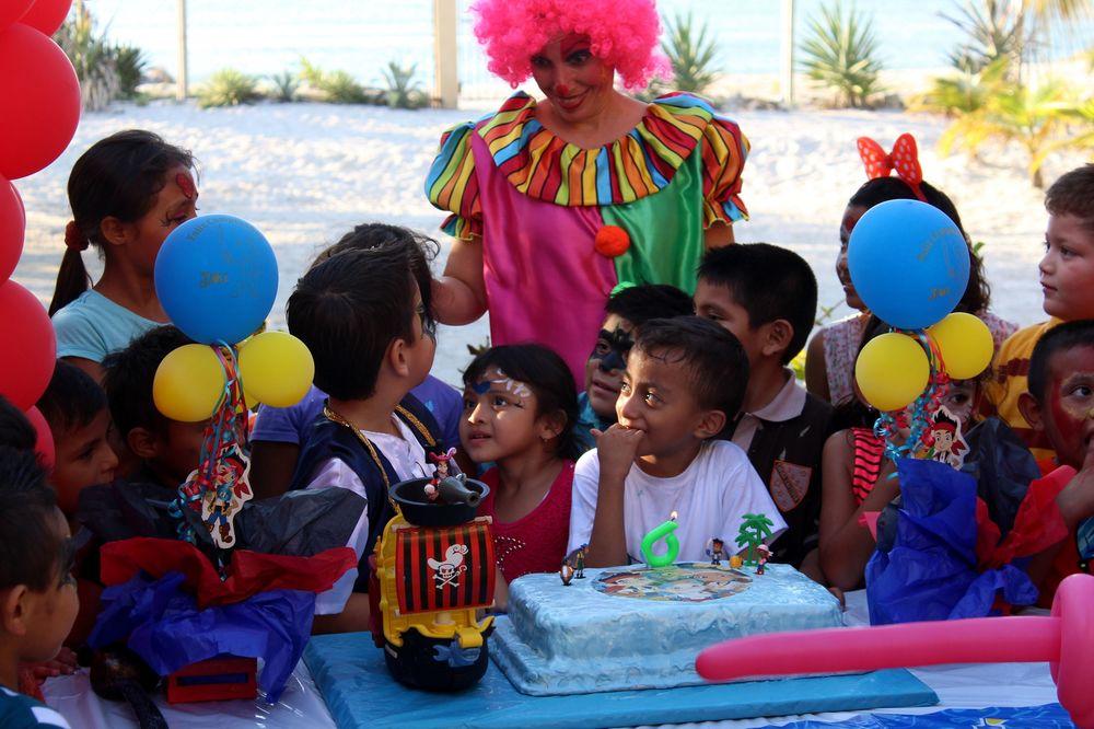 Fête d'anniversaire, Celestùn, Yucatan, Mexico