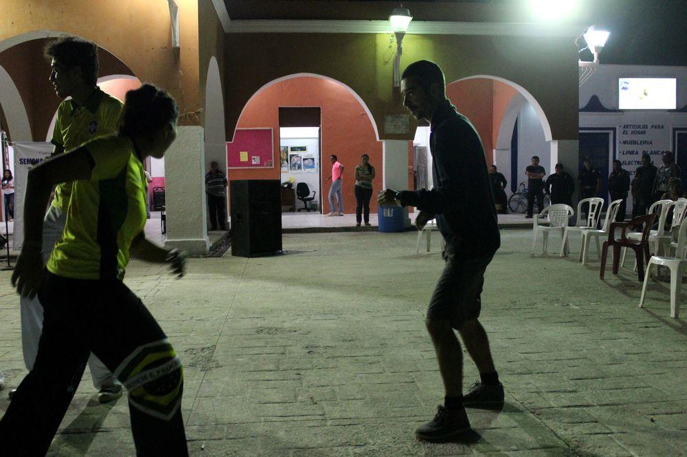 Démonstration de capoeira , Celestùn, Yucatan, Mexico