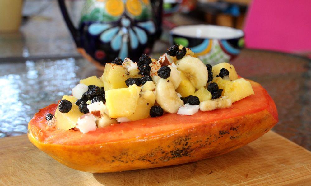 Petit déjeuner tout en fraicheur, Celestùn, Yucatan, Mexico