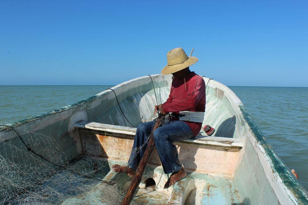 Journée pêche, Celestùn, Yucatan, Mexico
