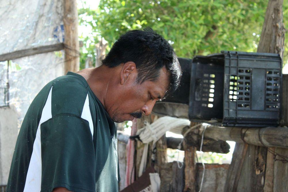 Damien notre chef pêcheur, Celestùn, Yucatan, Mexico