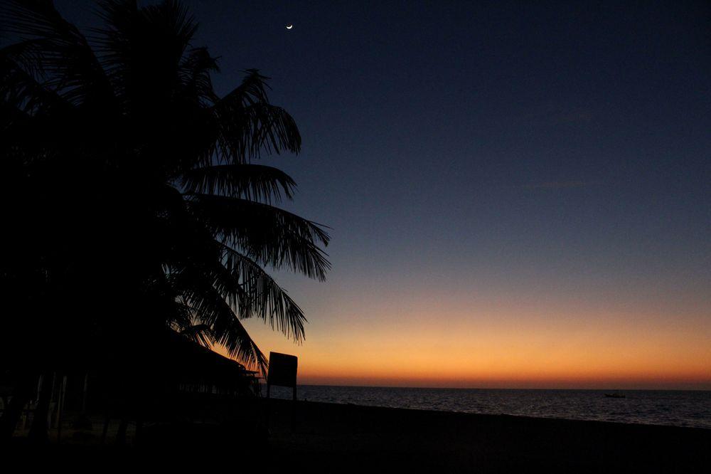 Coucher de soleil, Celestùn, Yucatan, Mexico