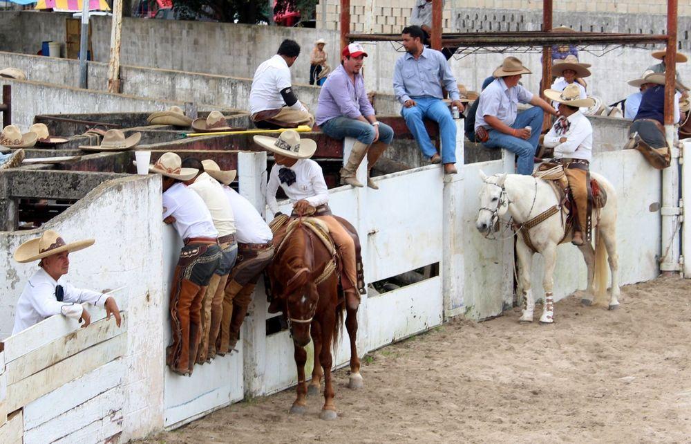 Dans l'arène de la Charrería, Campeche, Mexico
