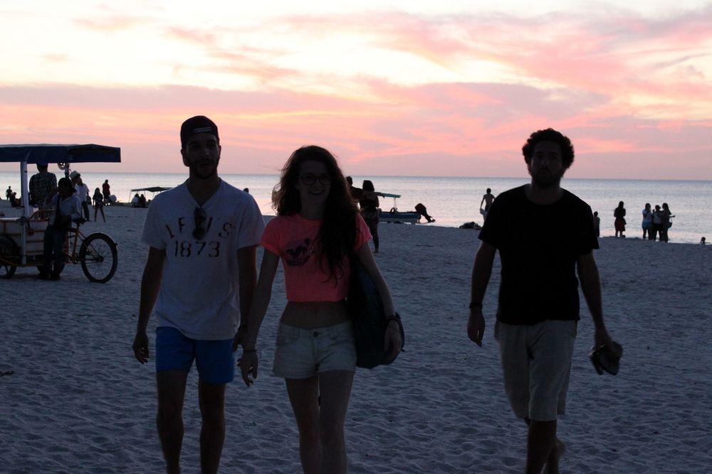 Sur la plage de Celestùn, Yucatán, Mexico