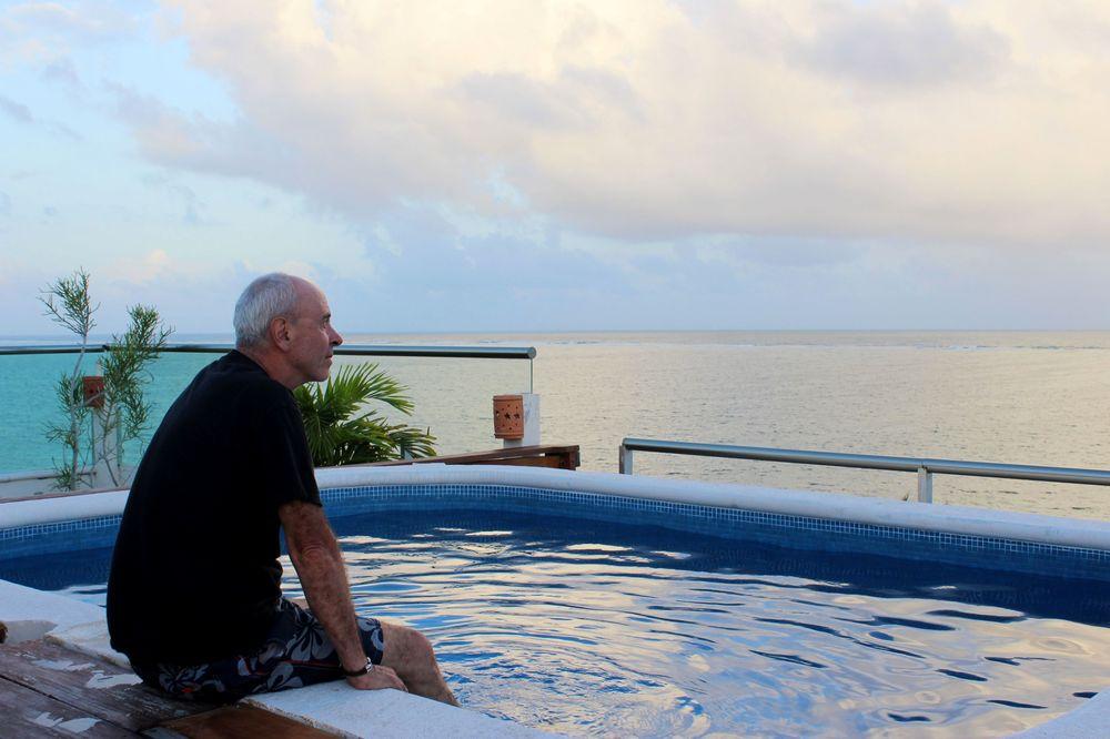 Les pieds dans le jacuzzi, Puerto Morelos, Quintana Roo, Mexico