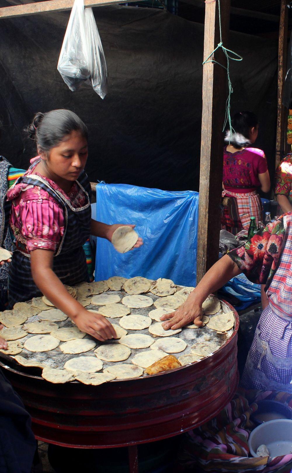 Taqueria los Tres Tiempo, marché de Chichicastenango, Sololá, Guatemala
