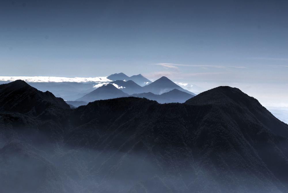 Au sommet du volcan Santa Ana,  Quetzaltenango,  Guatemala