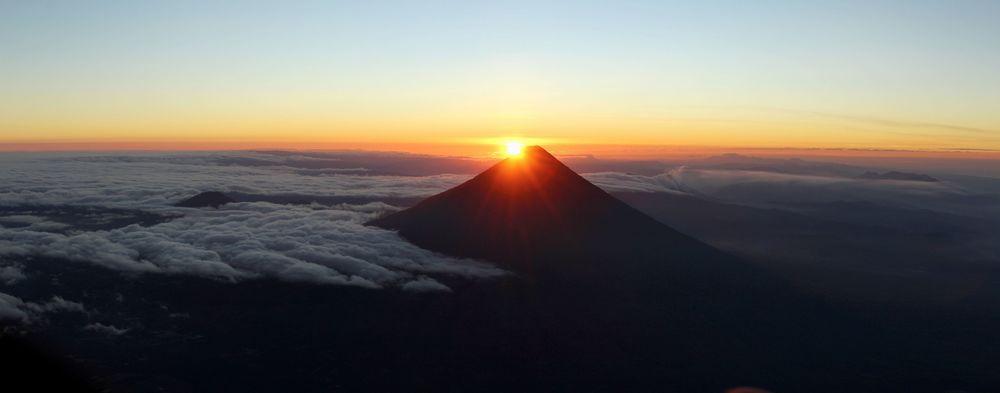 Vue sur le volcan de Agua, Volcan Acatenango,Antigua, Guatemala