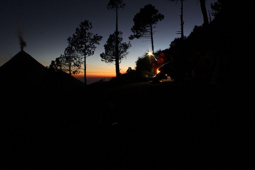 Au sommet du volcan Acatenango, Antigua, Guatemala