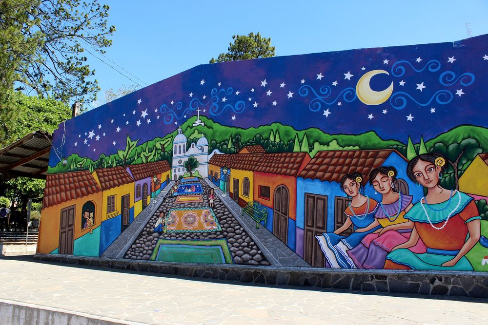 Fresque, Concepción de Ataco, Ruta de la Flores, Santa Ana, El Salvador