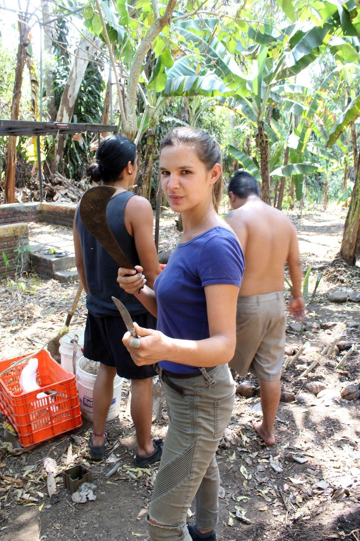 Prêt pour se salir les mains, Bubble Organic Farm, San Salvador, El Salvador