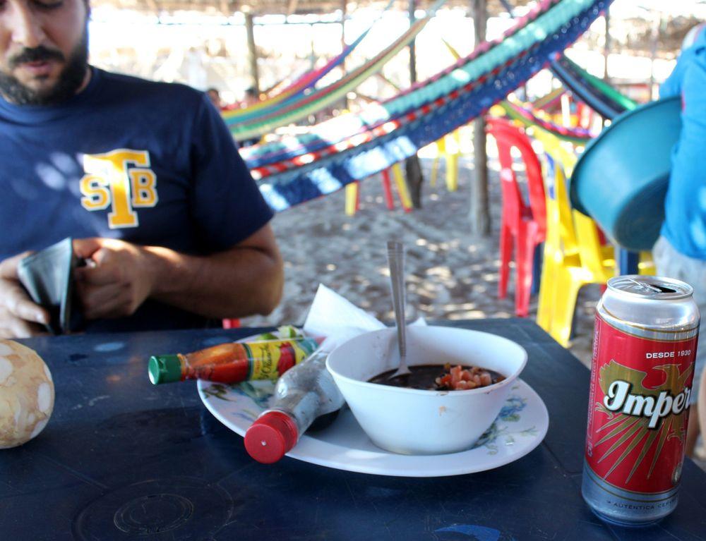 Ceviche de palourdes, Playa Cedeño, Choluteca, Honduras