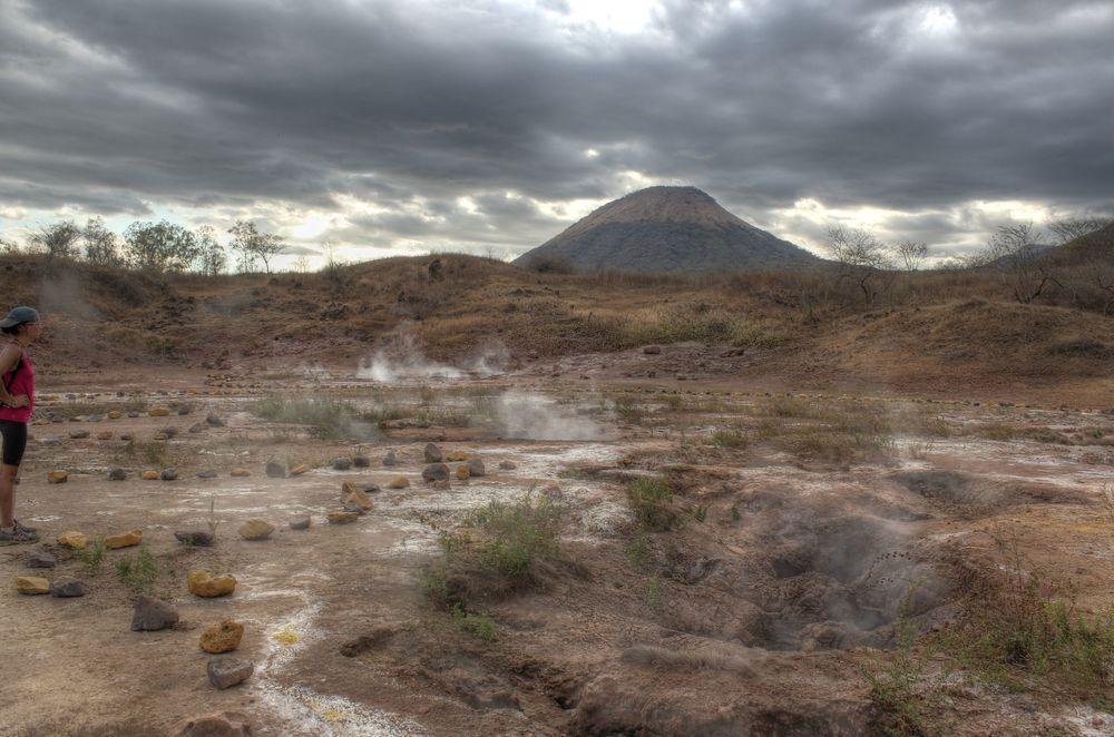 Fumeroles, Volcan Telica, Nicaragua
