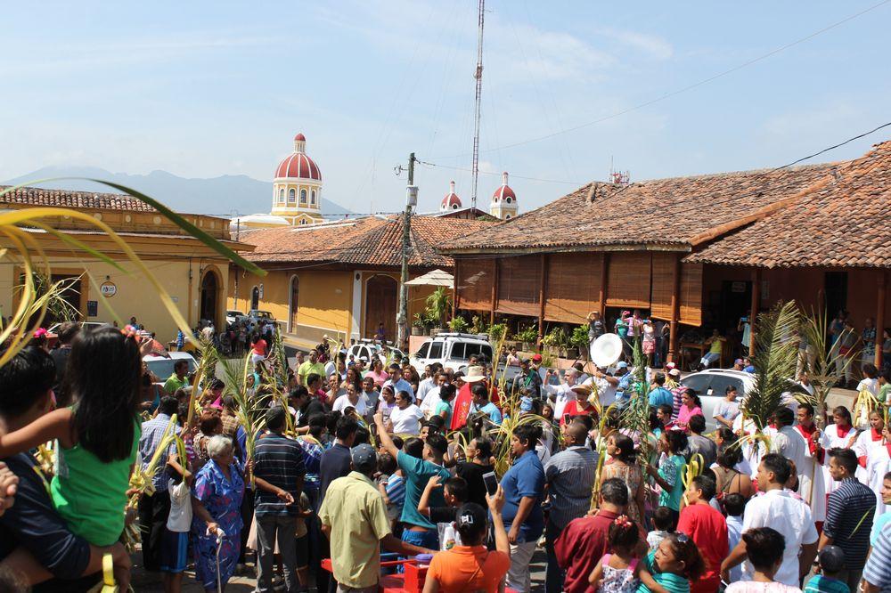 Bénédiction des rameaux, Granada, Nicaragua